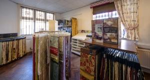 Some of the many available fabrics.