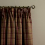 Checked curtains