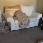 Old sofa pre cover