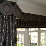 Pelmet and Curtains in bay window.